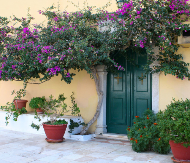 Paleokastritsa Monastery on Corfu Island