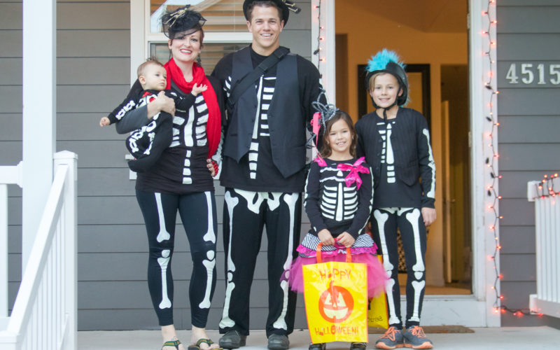 DIY Family Skeleton Costumes