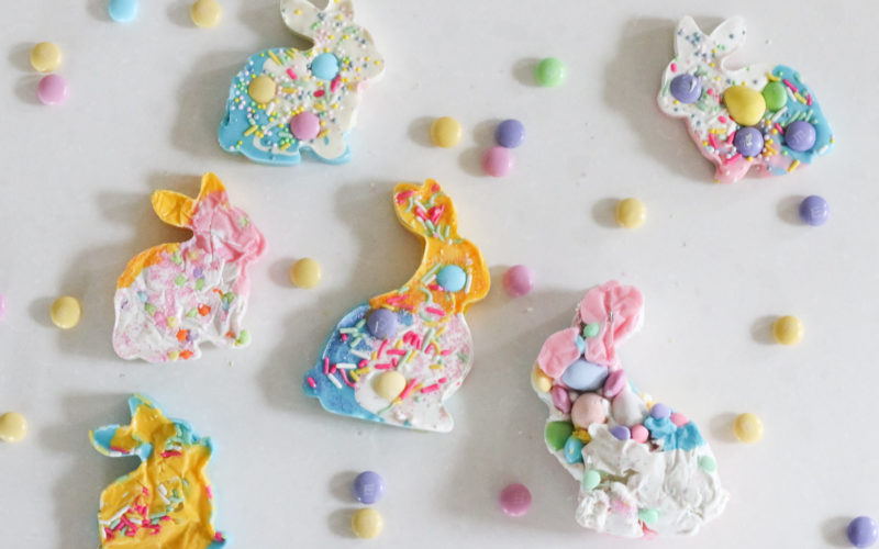 Abstract Easter Bunnies Candy